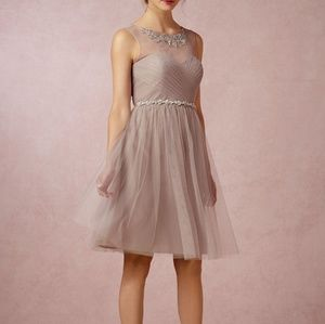 NWT Jenny Yoo mink grey bridesmaid dress